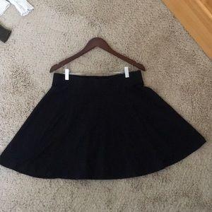 Black Skater Skirt by DIVIDED